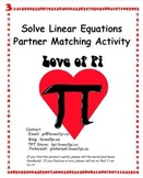 Solving Linear Equations Pair Up Activity