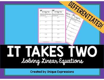 Solving Linear Equations Partner Activity