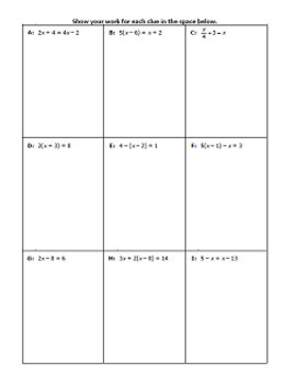 Solving Linear Equations Practice - Sudoku Game
