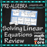 Solving Equations - Review - GOOGLE Slides