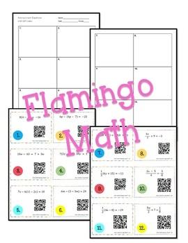 Algebra 2: Solving Linear Equations Task Cards QR Codes