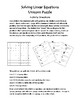 Solving Linear Equations Unicorn Puzzle Activity (with Solutions)