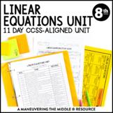 Linear Equations Unit: 8th Grade Math (8.EE.7)