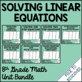 Solving Linear Equations Notes and Practice