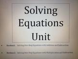 Solving Linear Equations Unit