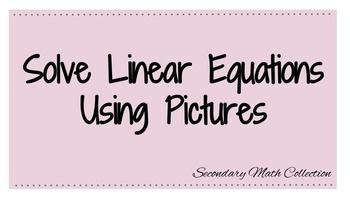 Intro to Solving Linear Equations Using Pictures