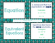 Solving Linear Equations Vocabulary Cards