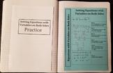 Solving Linear Equations With Variables on Both Sides (Foldables)