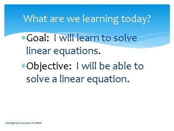 Solving Linear Equations - all types - pdf and editable powerpoint