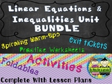 Algebra: Solving Linear Equations and Inequalities Mega Bundle