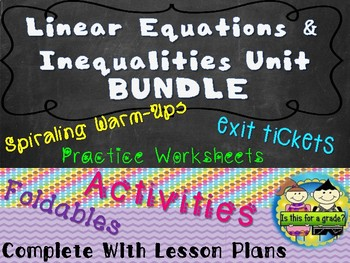 Algebra: Solving Linear Equations and Inequalities Mega Bundle