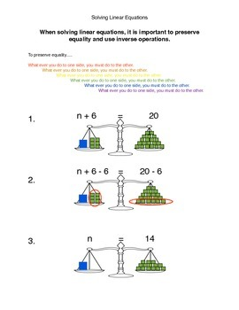 Solving Linear Equations and Preservation of Equality