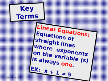 Power-Point:  Solving Linear Equations using Addition and Subtraction