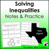 Solving Inequalities Notes & Practice (A5B)