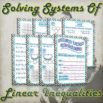 Solving Linear Inequalities & Systems of Linear Inequalities
