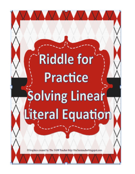 Solving Linear Literal Equations Riddle