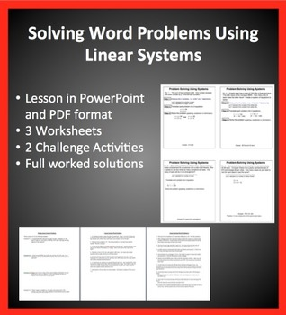 Solving Linear System Word Problems