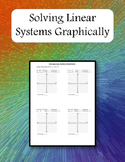 Solving Linear Systems Graphically Warm up - Worksheet