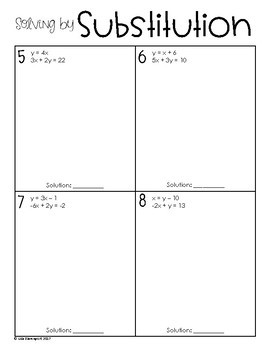 Solving Linear Systems (Practice Packet)