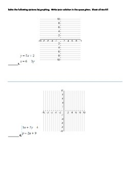 Solving Linear Systems Quiz
