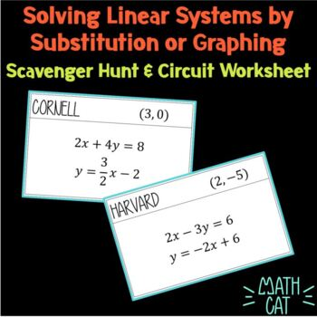 Solving Linear Systems Scavenger Hunt (w/ circuit ws for absent students)