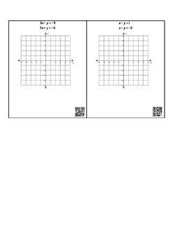 Solving Linear Systems by Graphing Task Card with QR Code Key