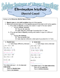 Solving Linear Systems by the Elimination Method (Special Cases)