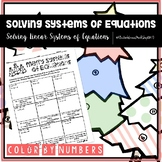 Solving Systems of Linear Equations Color by Numbers