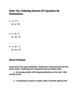 Solving Linear Systems of Equations and Inequalities Station Activity
