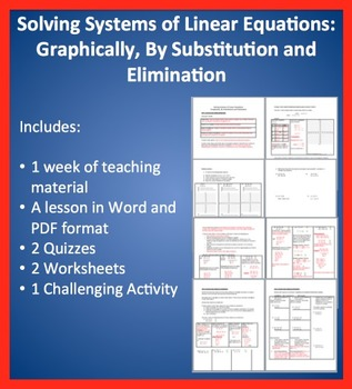 Solving Linear systems by Graphing, Substitution and Elimination