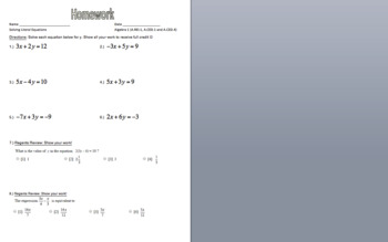 Solving Literal Equations Day 1
