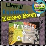 Solving Literal Equations Escape Room Activity