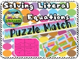 Solving Literal Equations Matching Puzzle Activity