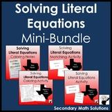 Solving Literal Equations Mini-Bundle (A12E)