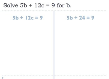Solving Literal Equations Notes