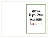 Solving Logarithms INB