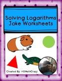 Solving Logarithms Joke Worksheets