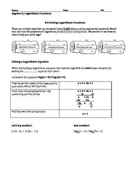 Solving Logs Intro Lesson