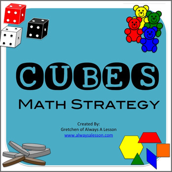 Solving Math Word Problems- CUBES Strategy by Always A Lesson | TpT