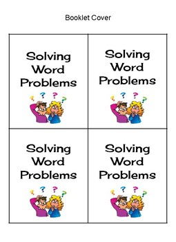 Solving Math Word Problems: Flip Book Guide