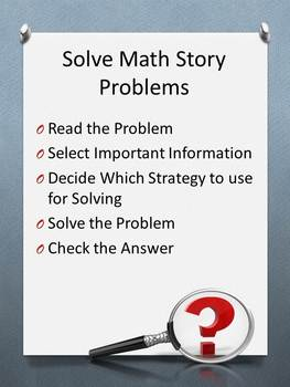 Solving Math Word Problems PowerPoint - Posters