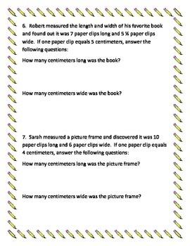 Solving Measurement Problems 3rd grade