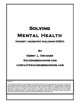 Solving Mental Health in the Classroom and Home