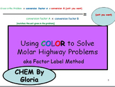 Solving Molar Highway Problems Using Color
