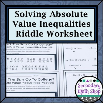 Inequalities Practice Test Teaching Resources | Teachers Pay Teachers