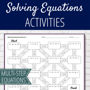 Solving Multi-Step Equation Maze Activity