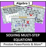 (Alg 1) Solving Multi-Step-Equations in a PowerPoint Presentation