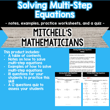 Solving Multi-Step Equations
