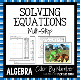 Solving Multi-Step Equations ALGEBRA Color By Number