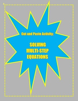 Solving Multi-Step Equations Activity